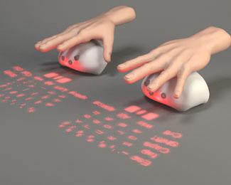 鼠标投影键盘电子产品设计欣赏(Lumiquitous)
